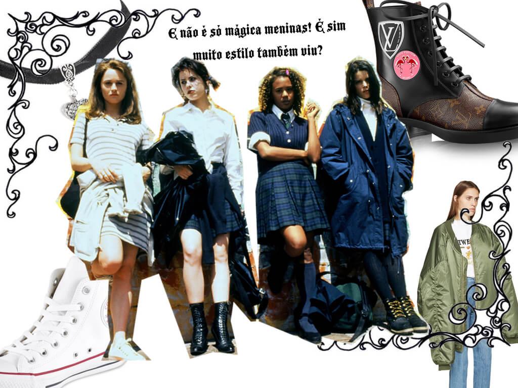 Jovens Bruxas uma senhora aula de moda