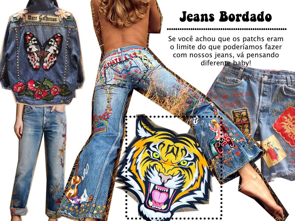 Bordado no jeans pra apostar