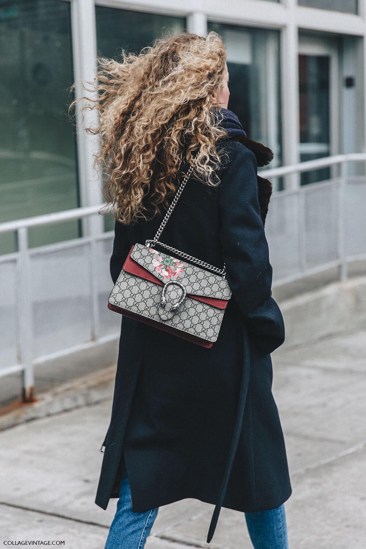NYFW-New_York_Fashion_Week-Fall_Winter-17-Street_Style-Navy_Blue_Coat-Gucci_Dionysus_Bag-