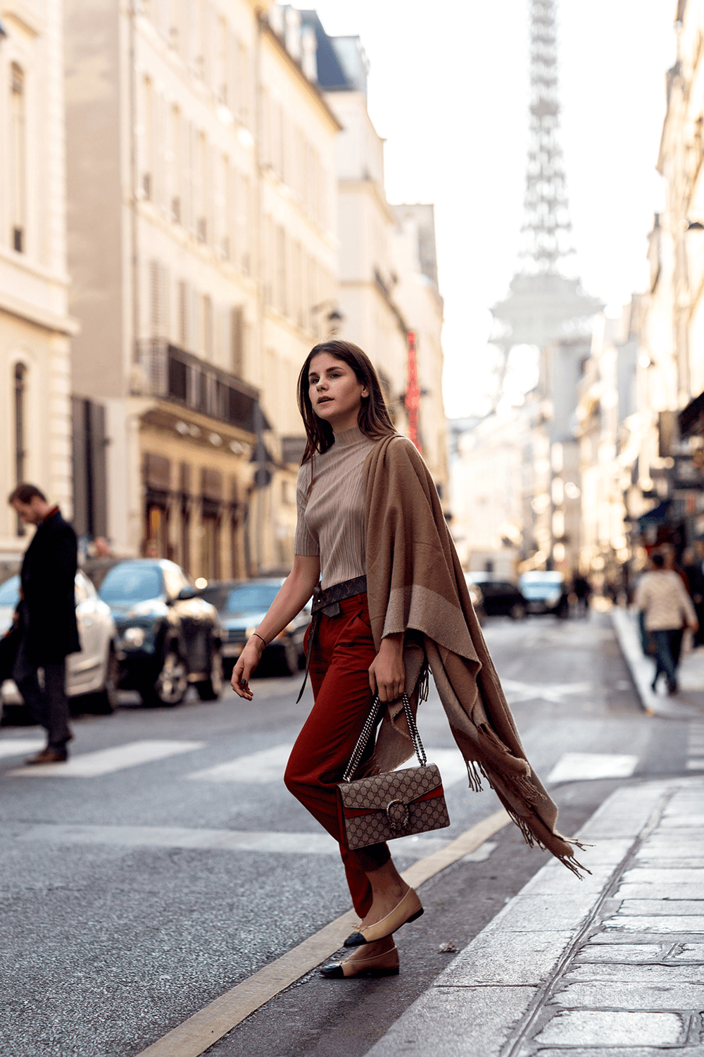 The-Fashion-Fraction-Paris-Outfit-Cape-Casual-Style-Gucci-Dionysus-Chanel-Louis-Vuitton-Tie-The-Know-12