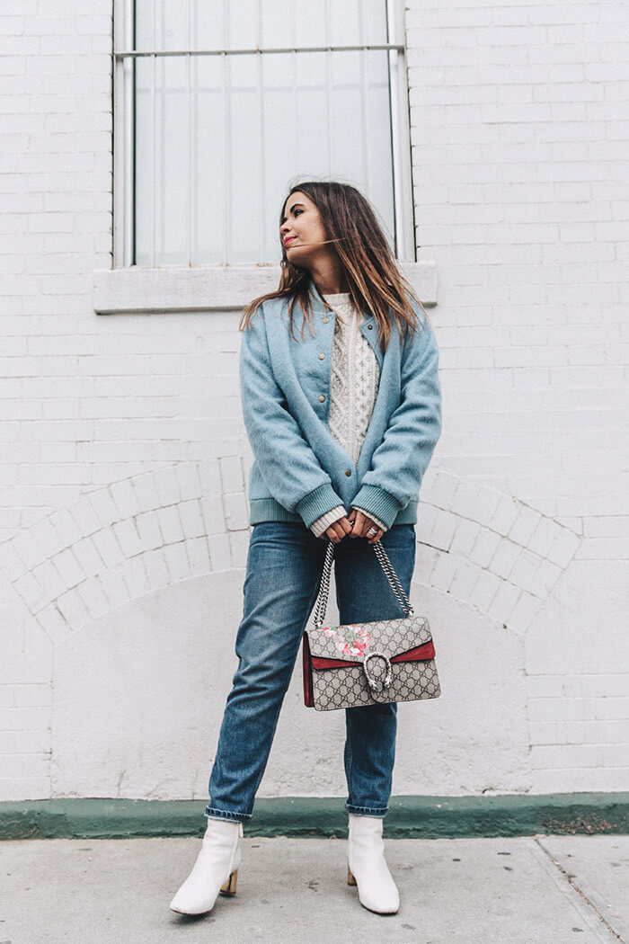 Blue_Bomber-Ganni-Topshop_Jeans-White_Boots-Gucci_Bag-Outfit-NYFW-New_York-Street_Style-17