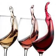 Taças para vinho na Gastronomia Itinerante