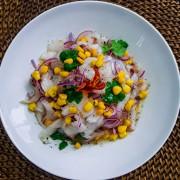 Ceviche Peruano na Gastronomia Itinerante