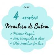 4 aninhos Monalisa de Batom