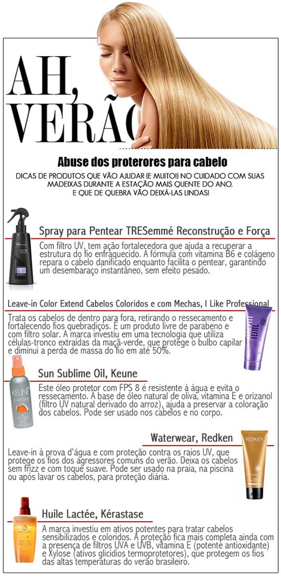 protetor solar para cabelos