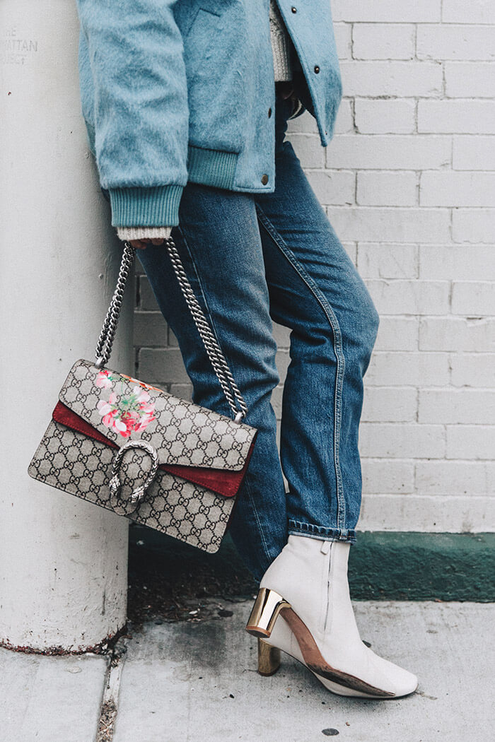 Blue_Bomber-Ganni-Topshop_Jeans-White_Boots-Gucci_Bag-Outfit-NYFW-New_York-Street_Style-6