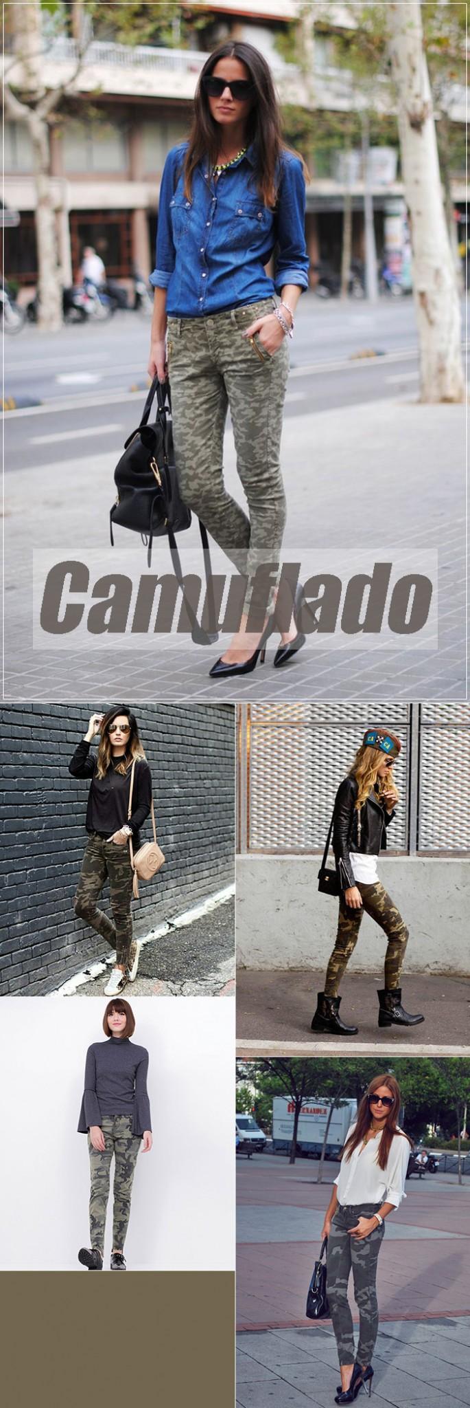 Calça Camuflada em 11 produções lindas