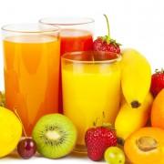 Cuidado com sucos de frutas