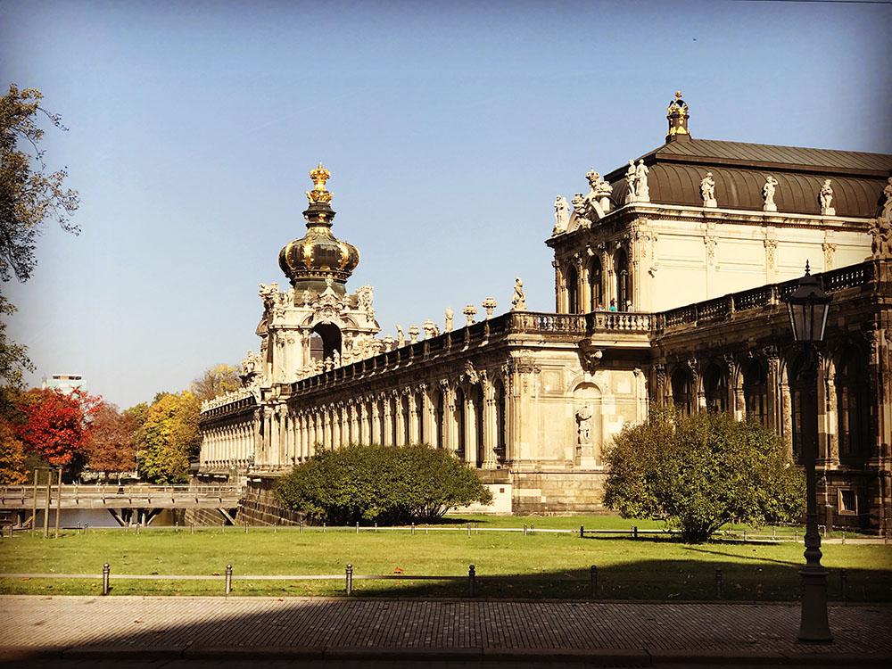 Um típico sábado de primavera em Dresden